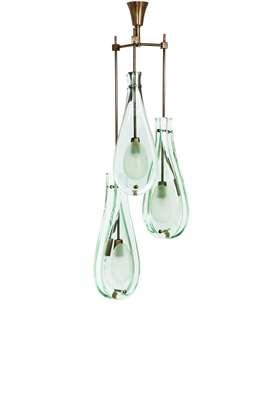 Three drop chandelier, model no. 2477