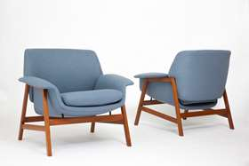 Pair of armchairs, model no. 849