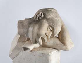 An original plaster bust, model for the