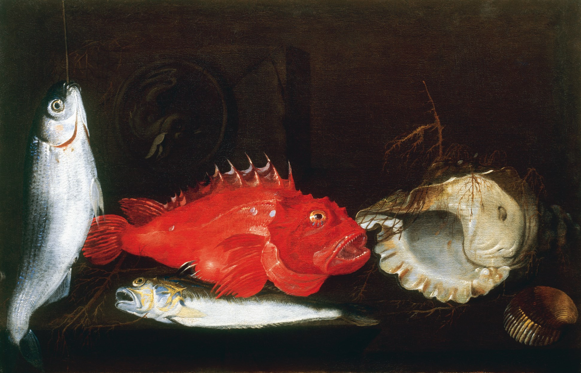 PaoloPorporaStill Life with Mullet, Scorpion Fish, Weever, two ...