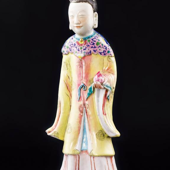 chinese porcelain famille rose figure of goddess magu