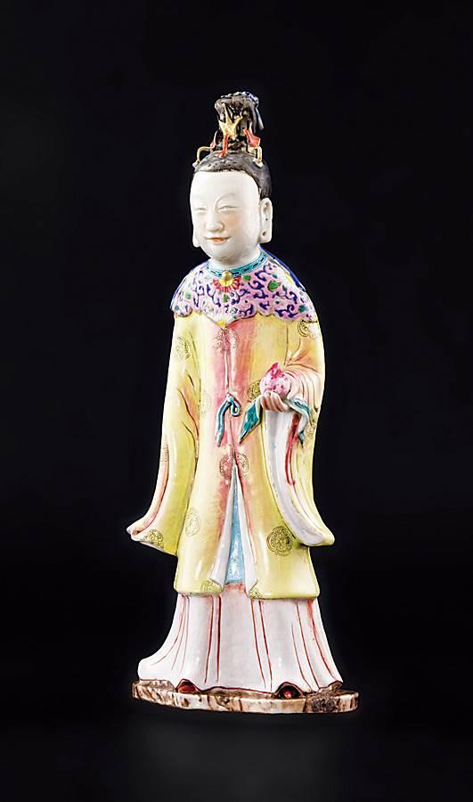chinese porcelain famille rose figure of goddess magu