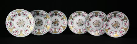 set of six dinner plates