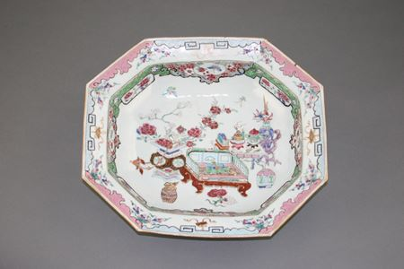 chinese export porcelain FAMILLE ROSE DEEP DISH