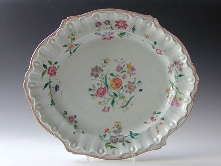 chinese porcelain FAMILLE ROSE DISH AFTER HOECHST