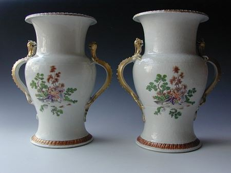 PAIR OF EUROPEAN SUBJECT VASES