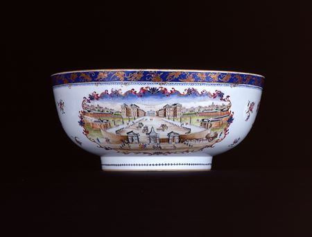 RARE TOPOGRAPHICAL PUNCH BOWL