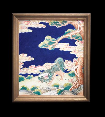 chinese painted enamel on copper plaque