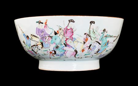 chinese porcelain famille rose punchbowl