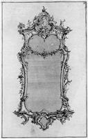 A fine George III giltwood mirror in the manner of Matthias Lock