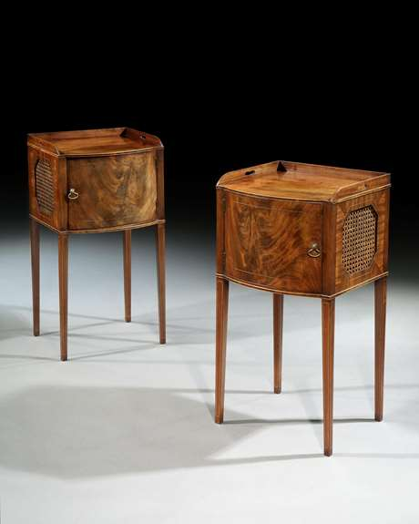 A Pair of George III Bedside Cabinets