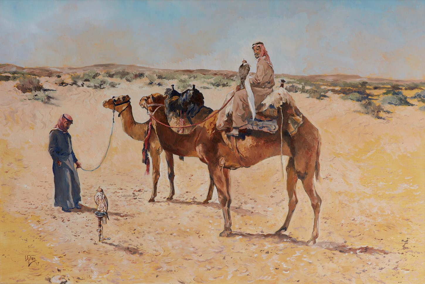 The Hunters - Camels, Bedouin and Falcons