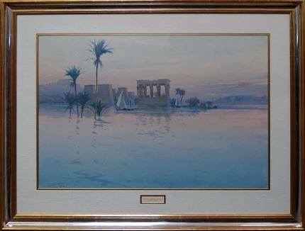 'Philae on the Nile' and 'Camel Rider in the Desert'