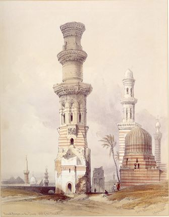 Ruined Mosques in the Desert West of Cairo