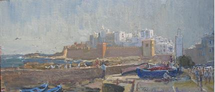 Essaouira, citadel and harbour view