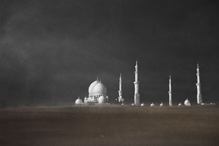Al Khulud - The sands of time bury all but what we hold most dear. Abu Dhabi Mosque