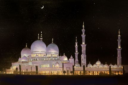 Crescent Moon, Sheikh Zayed, Grand Mosque Abu Dhabi