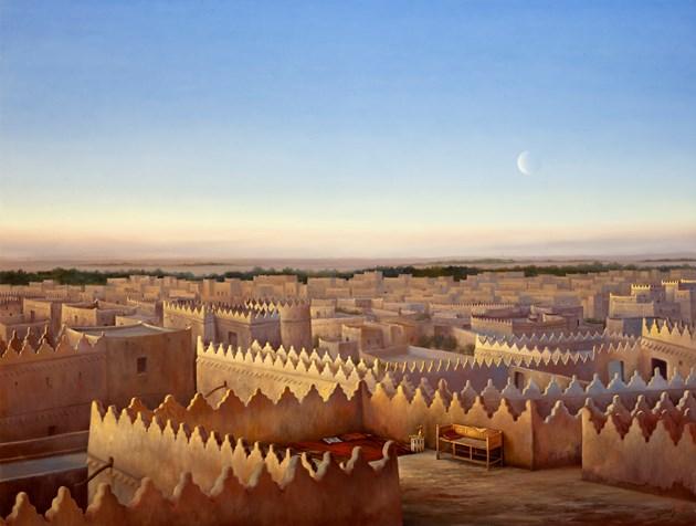 Evening light over Old Riyadh