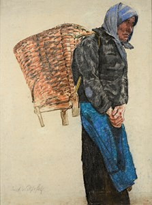 An Old Woman with a Basket
