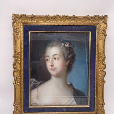 Pastel représentant Madame de Pompadour