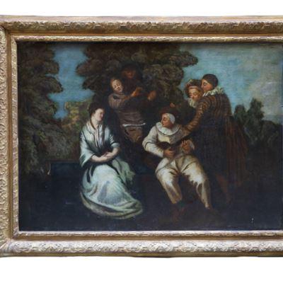 Huile sur toile « La sérénade »