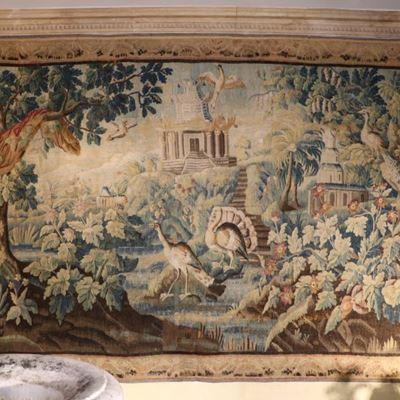 Tapisserie d'Aubusson représentant un paysage