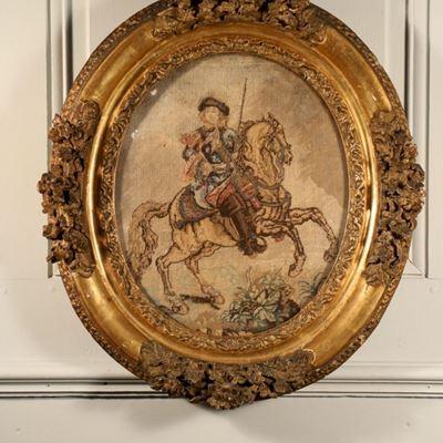Le Duc du Maine, portrait au petit point de Saint-Cyr