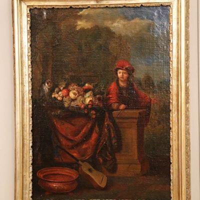 Paire d'huiles sur toile d'époque Louis XV