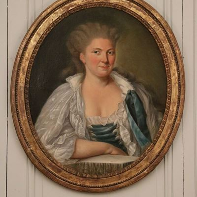 Portrait d'une élégante