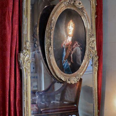 Grand miroir d'époque Louis XV