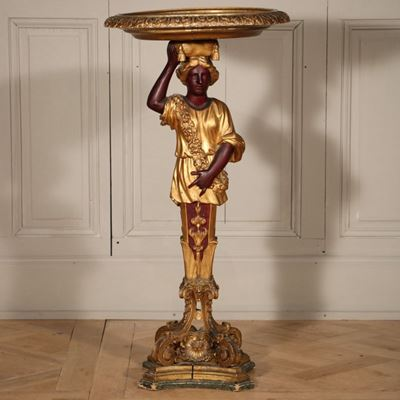 Guéridon en bois doré d'époque Louis XIV