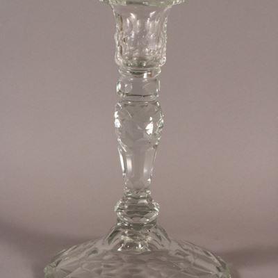 Bougeoir en cristal, Irlande, XVIIIe siècle.