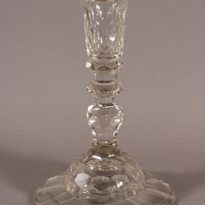 Unique bougeoir cristal, XVIIIe siècle, Irlande