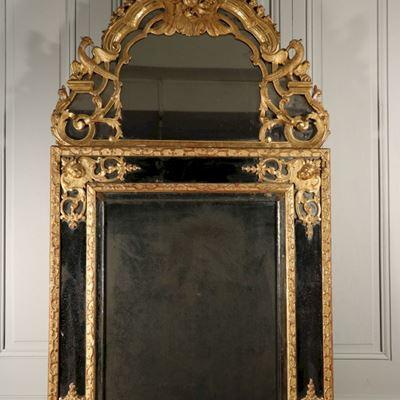 Miroir à parecloses aux phoenix époque Louis XV