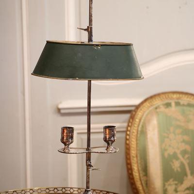 Lampe bouillotte en métal argenté