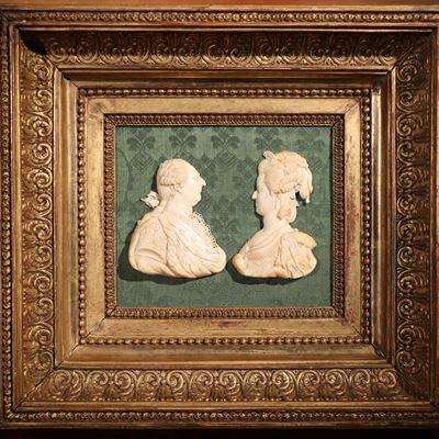 Profils de Louis XVI et Marie-Antoinette