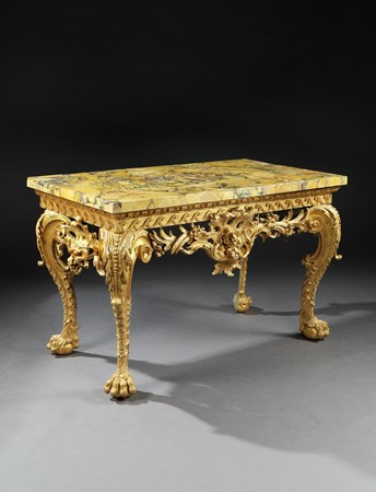 AN IMPORTANT GEORGE II GILTWOOD SIDE TABLE
