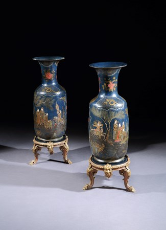 A PAIR OF BERLIN GLAZED POTTERY VASES IN THE MANNER OF MARTIN SCHNELL