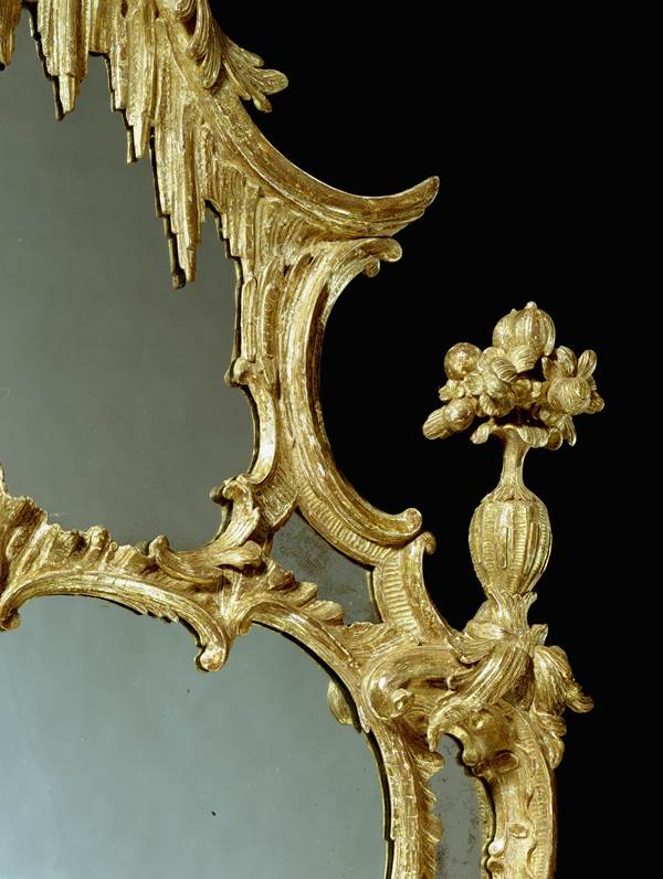 A GEORGE III CARVED PIER GLASS ATTRIBUTED TO JOHN LINNELL