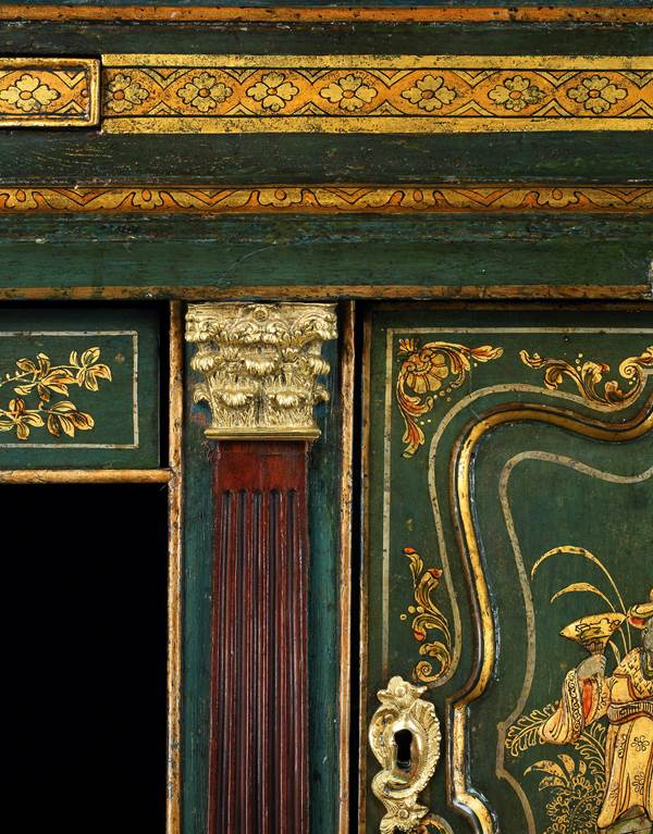 A HIGHLY IMPORTANT GEORGE II BUREAU CABINET ATTRIBUTED TO GILES GRENDEY
