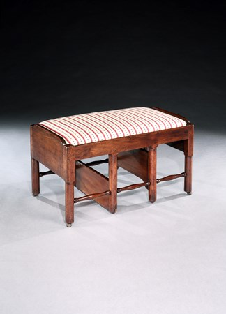 A GEORGE II MAHOGANY STEP STOOL