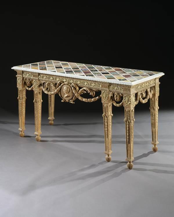 THE DAISY FELLOWES SPECIMEN MARBLE TABLE