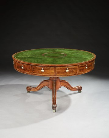 A GEORGE III MAHOGANY RENT TABLE