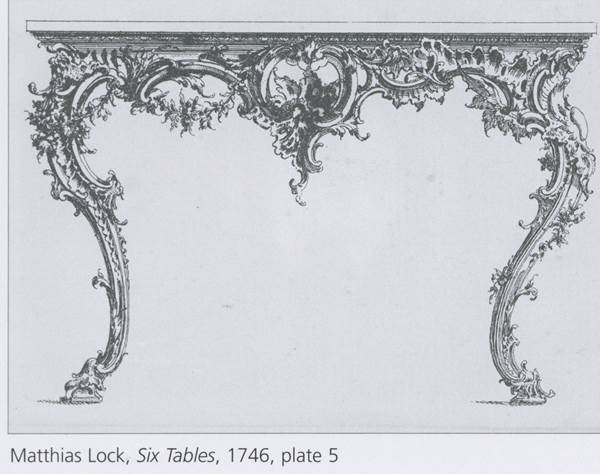 A LARGE GEORGE II GILTWOOD CONSOLE TABLE ATTRIBUTED TO MATTHIAS LOCK