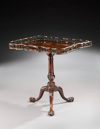 A RARE GEORGE III MAHOGANY TRIPOD TABLE