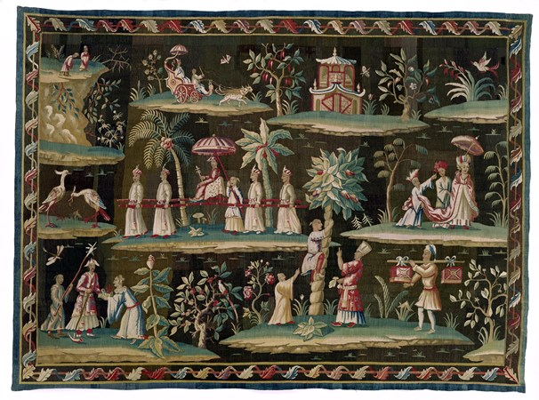 A GEORGE I CHINOISERIE SOHO TAPESTRY BY JOHN VANDERBANK