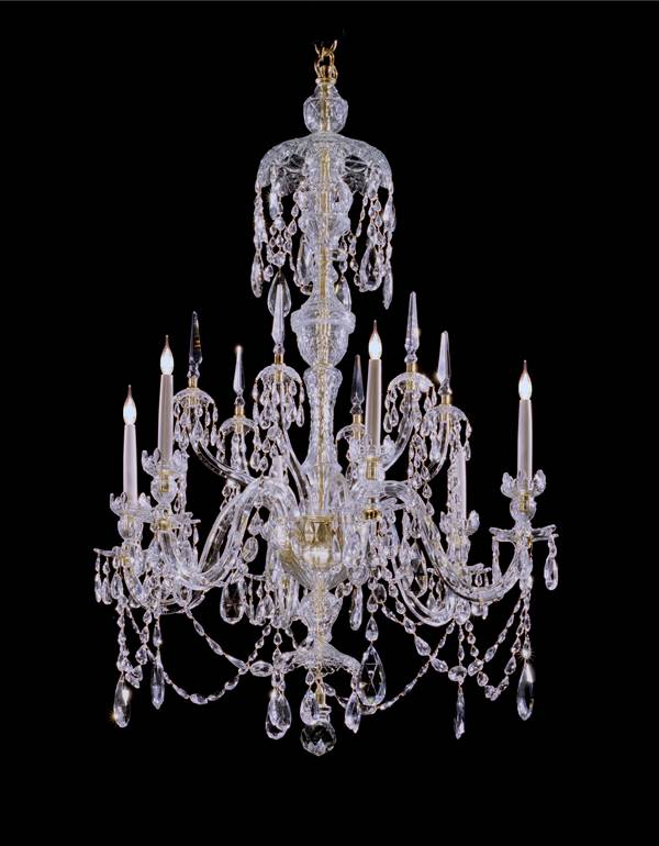 A PAIR OF GEORGE III 'STYLE' CHANDELIERS