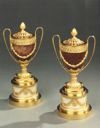A PAIR OF GEORGE III PERFUME BURNERS BY MATTHEW BOULTON
