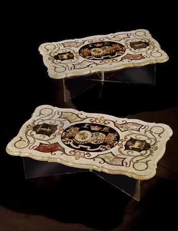 THE LONDONDERRY PIETRA DURA MARBLE TOPS BY J. DARMANIN AND SONS OF MALTA
