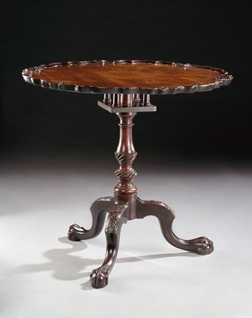 A MAGNIFICENT GEORGE III MAHOGANY TRIPOD TABLE